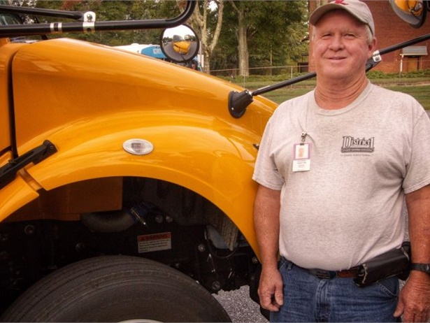 Lynn Pittman has logged over 1 million miles over the course of his 41-year career driving a school bus. Photo courtesy Spartanburg School District One