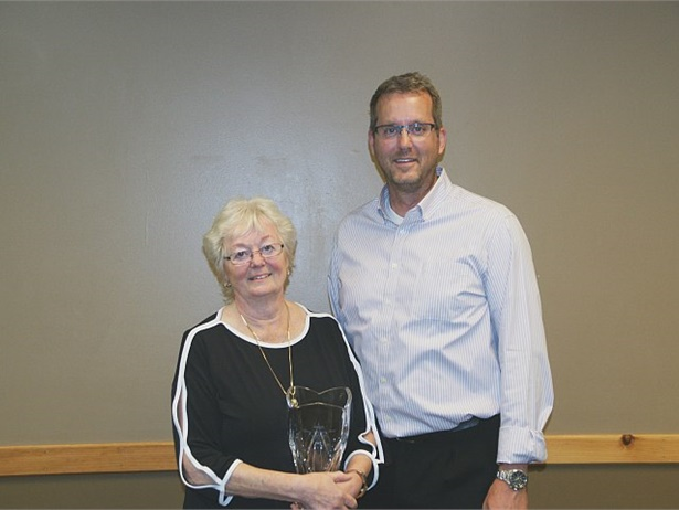 MSBOA presented its 2016 Lifetime Achievement Award to Judy Koch, shown here with her son, Brian.