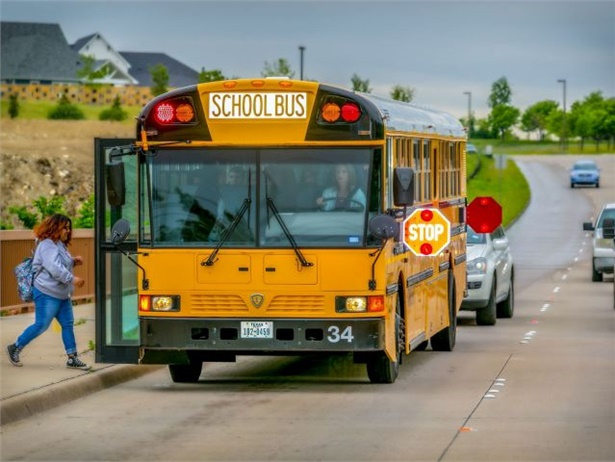 """Throughout August, Arkansas' statewide """"Flashing Red. Kids Ahead"""" initiative will promote the need for motorists to stop for school buses. File photo by Mitzi Bowers"""
