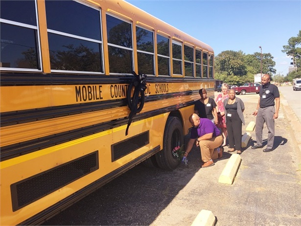 Mobile County (Ala.) Public Schools bus driver Kimberleigh Welch passed away on Thursday after another vehicle hit her bus, causingit to overturn. Photo courtesy Mobile County Public Schools