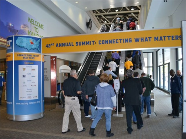 "NAPT's 2017 conference will include three keynote speakers, new ""NextPloratory Sessions,"" and a one-day trade show. Seen here is the 2016 event."
