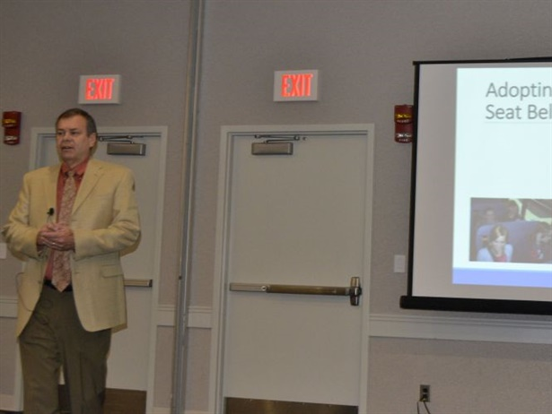 Derek Graham, a consultant and the former state director for North Carolina, discussed the history of pupil transportation's relationship with seat belts on buses and their safety and behavior benefits.