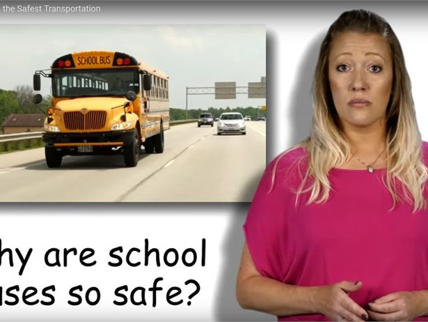 """The NAPT and STA have released """"My School Bus, the Safest Form of Student Transportation"""" to promote National School Bus Safety Week. Shown here is a screen shot from the video."""