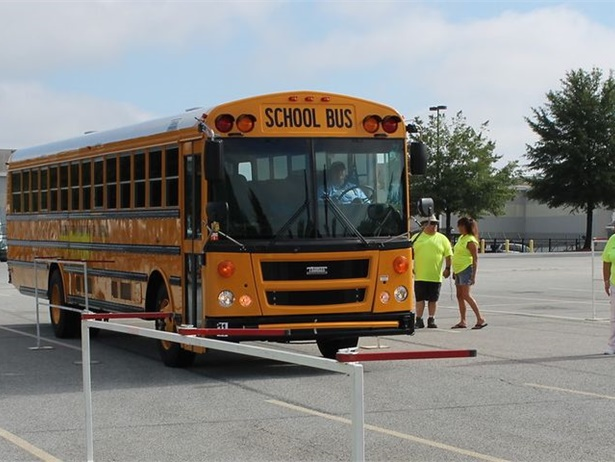 The National School Transportation Association will host the 47th Annual School Bus Driver International Safety Competition on July 15 and 16 near Indianapolis, Indiana. Shown here is last year's competition in High Point, North Carolina.