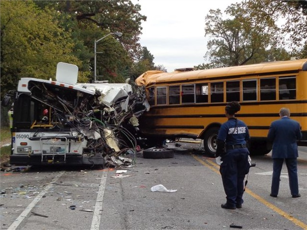 In a letter calling for a school bus safety hearing, U.S. representatives from Tennessee and Maryland cite concerns from recent crashes, including the Nov. 1 crash in Baltimore shown here. Photo courtesy Maryland Transportation Authority Police