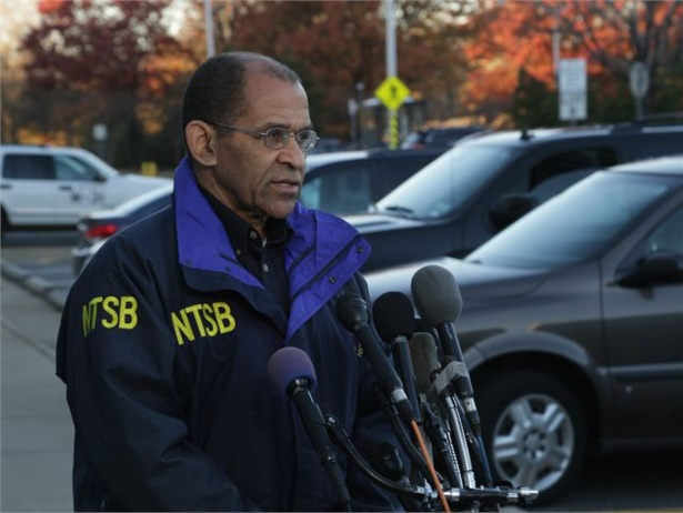 NTSB's updated list of safety improvement goals comes as federal statistics show an increase in U.S. traffic fatalities. Seen here is agency Chairman Christopher Hart. NTSB photo by James Anderson