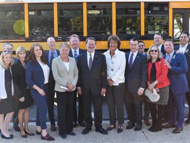 The National School Transportation Association (NSTA) hosted a School Bus Illegal Passing Technology Showcase in Washington, D.C. Among the attendees were congressional representatives and staff from federal agencies. Photo courtesy NSTA