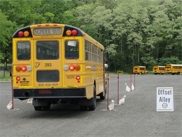 More than 100 drivers will take part in the 2018 New York State School Bus Safety Competition. Seen here is the offset alley challenge in last year's competition.