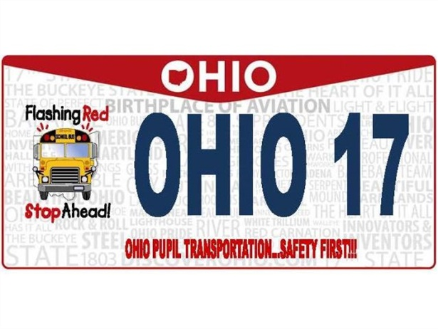 The Ohio Association for Pupil Transportation worked to gain approval for this specialty plate, which reminds drivers to stop for school buses.