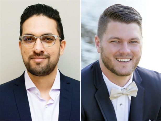 Ali Khan (left) will manage sales in Canada for Rosco, while Ross Braddock will cover the southeastern U.S.