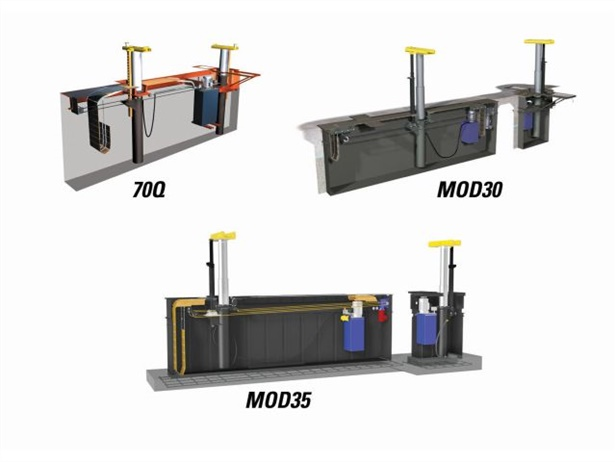 "Rotary Lift's 70Q, MOD30, and MOD35 heavy-duty inground lifts are available as direct structural ""frame only"" replacements for existing pits."