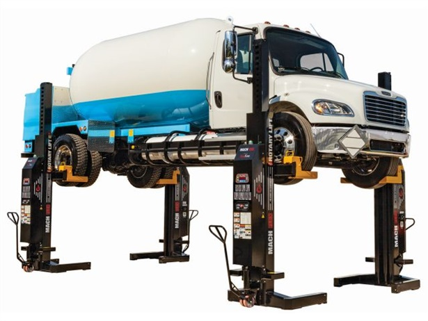 Rotary Lift's remote-controlled lift lineup now includes the MCHF13 FLEX, which provides 13,000 pounds of capacity per column.