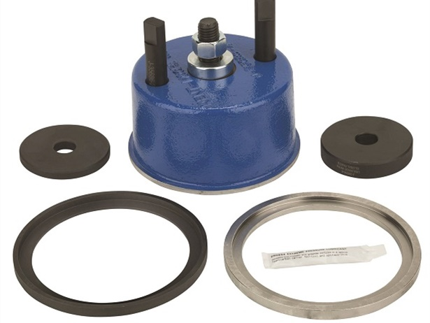 Shown here is the OTC Crankshaft Seal and Wear Sleeve Installer.