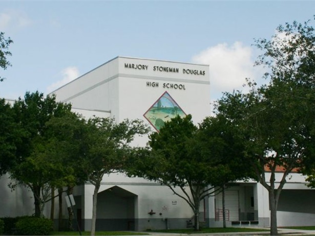 Broward County Public Schools implemented mandatory ID badges and use of clear backpacks, additional law enforcement, and limited entry points at Marjory Stoneman Douglas High School, which was the site of a deadly shooting in February.