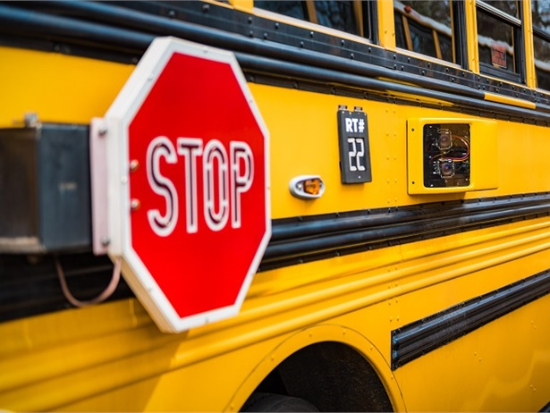 Allentown (Pa.) School District identified a total of 205illegal passing incidents over 47 days after installingstop-arm cameras on two of its buses. Photo courtesy BusPatrol