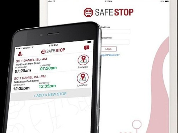 Parents and school officials at four Chicago area school districts will be able to use the SafeStop app to connect in real time with their children's school bus.