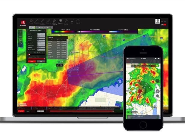 Baron'sThreat Netallows users to monitor weather and safety for situational awareness by location.