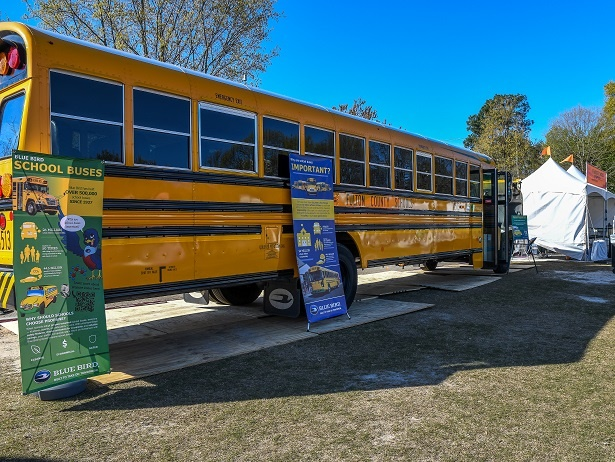 Blue Bird displayed its Vision Propane school bus at the Atlanta Science Festival to educate students about the bus's technology. Photocourtesy Blue Bird