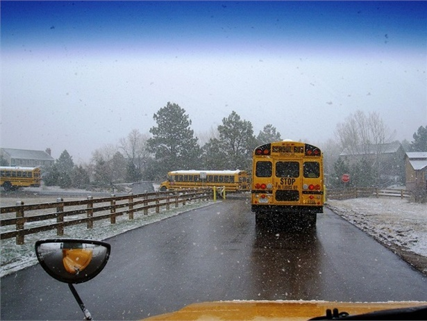 As this week's cold snap impacts some parts of the U.S., pupil transportation staff are working to ensure buses start on time and are ready for students to board. Photo credit John Horton