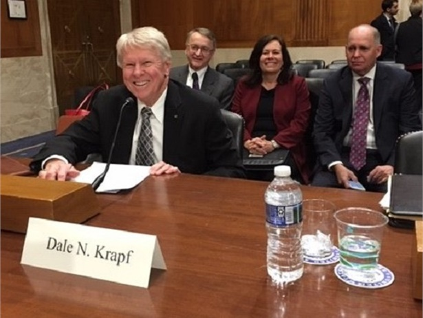 Dale Krapf, the chairman of the Krapf Group, testified before the Senate Environment and Public Works Committee on the Diesel Emission Reduction Act program.