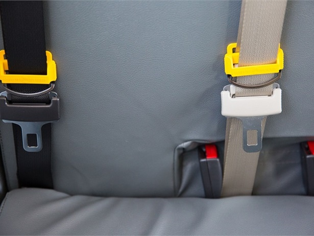 State lawmakers introduced a bill that would requireall new school buses to come equipped with seat belts and electronic stability control and collision avoidance systems. Photo courtesy Des Moines (Iowa) Public Schools