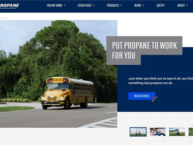The Propane Education and Research Council's new website contains information about propane in a variety of forms, including videos, customer case studies, emissions data, and fact sheets.