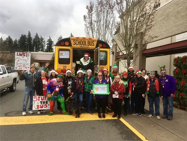 "The Lake Washington School District's Bus Driver's Association held their inaugural ""Stuff the Bus"" event to collect toys for those in need this holiday season. Photo courtesy of Melissa Jenkins"