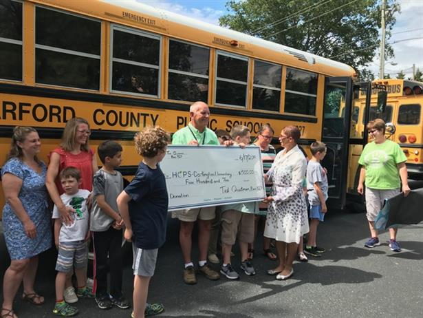 Ted Quatman, adriver for Harford County (Md.) Public Schools, donated his $500 early retirement incentive tothe district'sautism program after driving for nine years. Photo courtesy Harford CountyPublic Schools