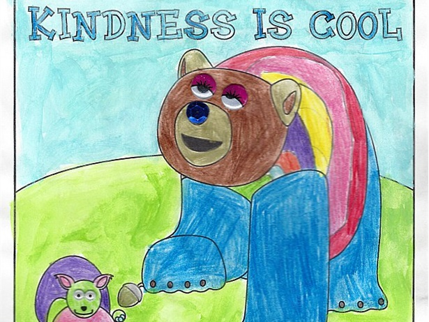 Safe Fleet's United Against Bullying program announced winners and honorable mentions in its annual coloring contest. Shown here is the winning entry in the ages 5 to 7 category, from Sydney Constantine-Cowie of Minneapolis, Minnesota.