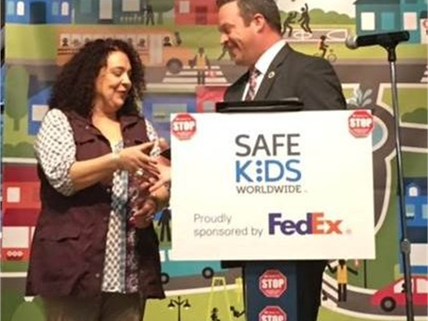 """Penni Robertson of Michigan was recently named """"America's Favorite Crossing Guard"""" by Safe Kids Worldwide, a nonprofit that focuses on child safety."""