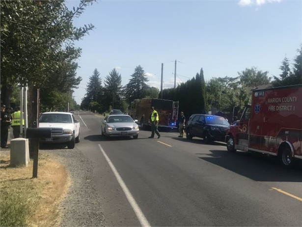 Authorities said a 9-year-old student in Salem, Oregon, ran alongside her bus as it drove away, and then she ran into the road and was hit by a white pickup truck. Photo courtesy Marion County Sheriff's Office