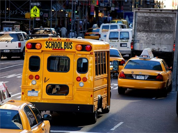 A man in New York is accused of stealing an ATM from a grocery store and then driving off with it in a stolen school bus. Stock photo by Katrina Falk