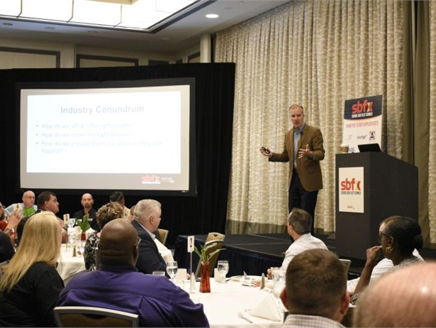 """Mark Aesch, CEO of TransPro Consulting, led discussions on tackling driver shortage by creating an """"ownership culture"""" in the workplace."""