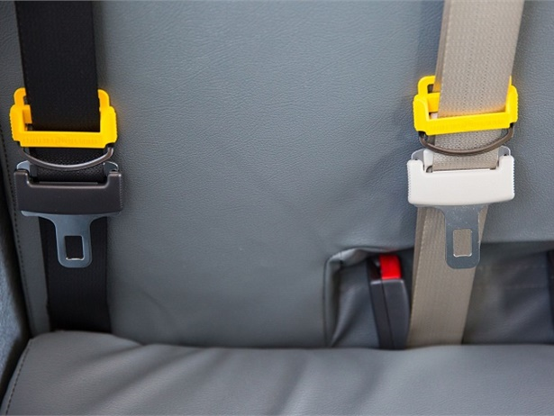 Lawmakers in Utah and Minnesota are considering legislation that would require school buses purchased after a certain date to be equipped with seat belts. Photo courtesy Des Moines (Iowa) Public Schools