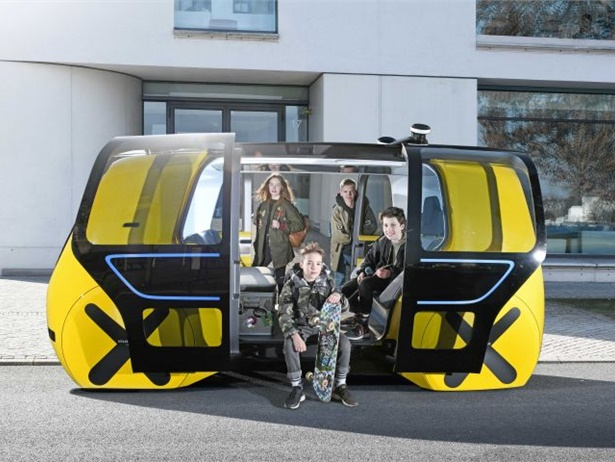 The Volkswagen Group unveiled the SEDRIC (SElf DRIving Car) School Bus at the International Geneva Motor Show on March 5.