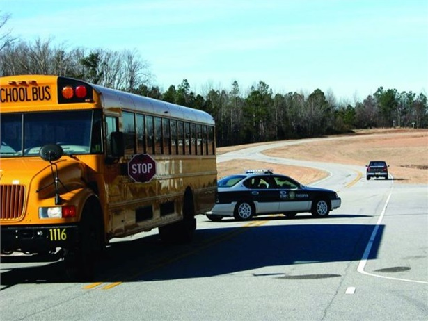 Officers in Wisconsin are cracking down on motorists illegally passing school buses this week. File photo from North Carolina Operation Stop Arm