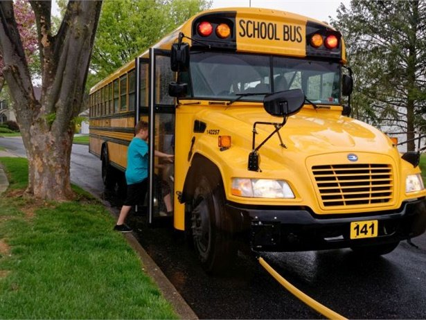 The Red Clay Consolidated School District will move to a three-tier school schedule and change start times to reduce the number of drivers needed as it deals with the most severe shortage it has ever experienced. File photo by Student Transportation Inc.