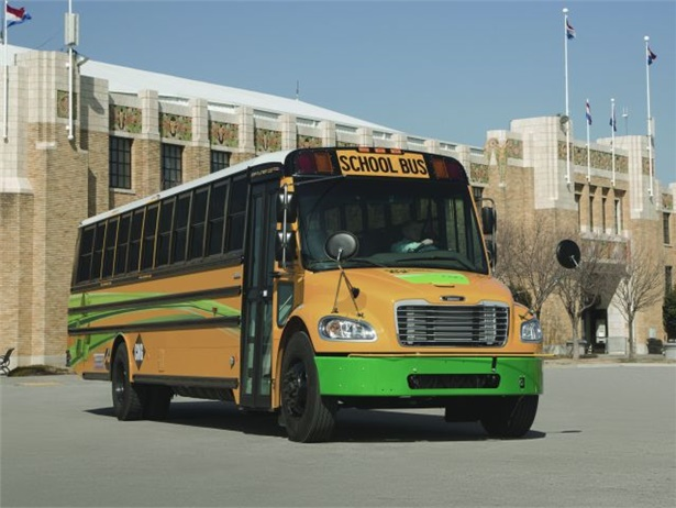 North Kansas City School District has purchased 110 of the new Saf-T-Liner C2 CNG school buses from Thomas Built Buses.