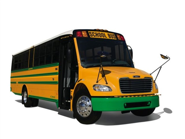 Electronic stability control will be standard on all new Thomas Built Saf-T-Liner C2 diesel and CNG (pictured) school buses produced on or after July 23.