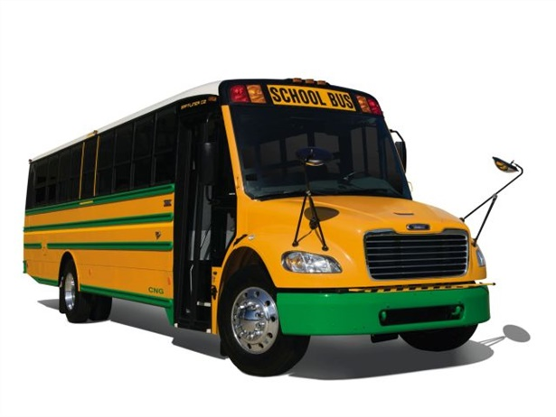 Thomas Built Buses has formed a strategic partnership with propane systems provider Agility Fuel Solutions. Seen here is Thomas Built's propane Saf-T-Liner C2.