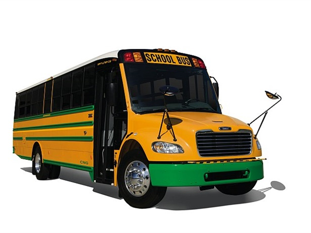 Zonar's V3 telematics control unit solution will be installed in Thomas Built's buses. Shown here is a Thomas Built Saf-T-Liner C2 CNG bus.