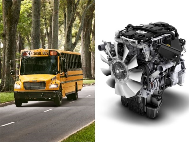 The Detroit DD5 engine will be available for order in the Thomas Built Saf-T-Liner C2 school bus starting in 2018.