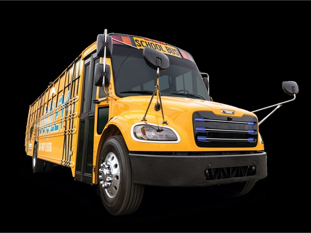 Thomas Built Buses will showcase key technological advancements in electric vehicle technology and the newest diesel engines at the NAPT trade show. (Shown here is the Saf-T-Liner eC2 Electric Bus.)