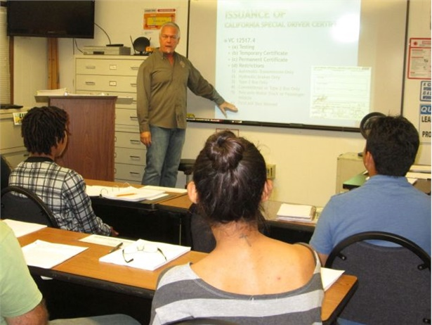 Don Smith trains school bus driver applicants in this file photo from Orange (Calif.) Unified School District.