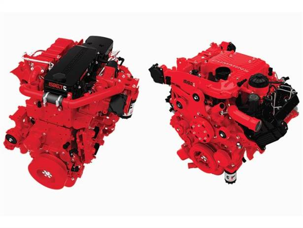 Cummins' engines meet the current EPA regulations and the second step in greenhouse gas and fuel-efficiency standards. Pictured are the ISB6.7 (left) and the ISV5.0.