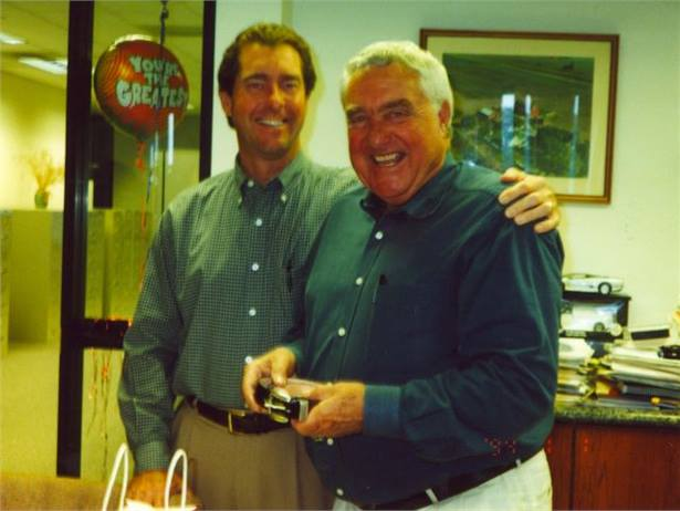 Ed Bobit (right), founder and chairman of Bobit Business Media, passed away on Sunday morning. He is pictured here with his son, Ty, the president and CEO of the company.