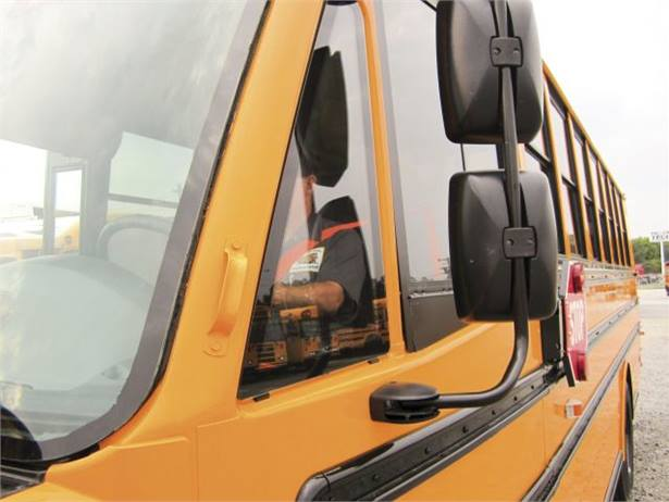 In Delaware, school bus driver seat belts are spec'd in fluorescent green or orange, making it easier to monitor belt use.