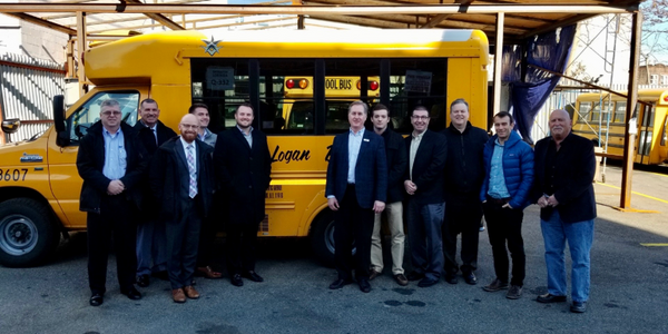 Logan Bus Co. is working with Amply Power to convert five of its diesel buses to electric. Shown...