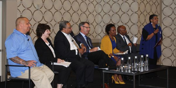 Panelists included (not listed in order) LA Metro CEO Phil Washington, Chicago Transit Authority...