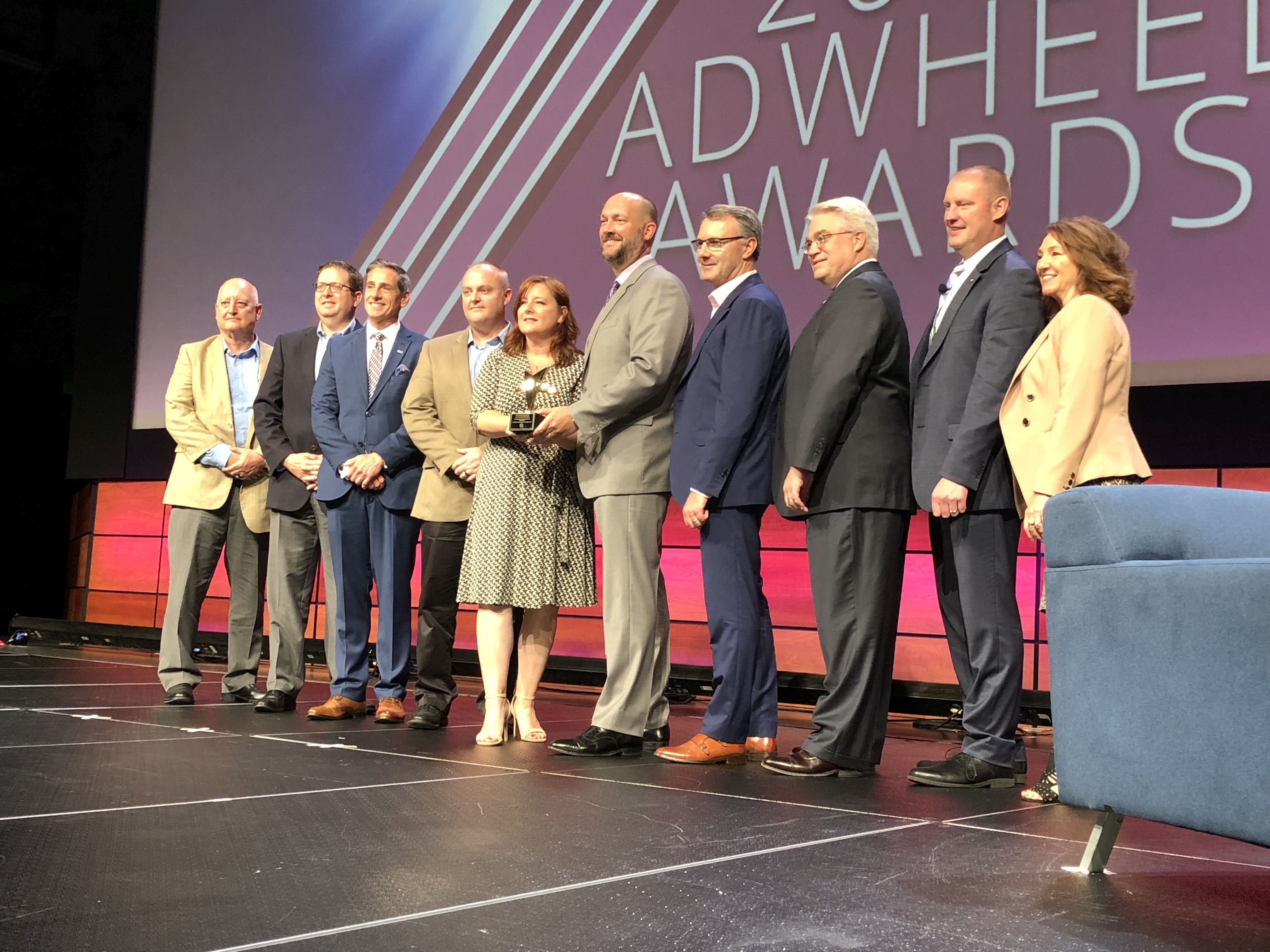 MCI wins 2018 APTA AdWheel Grand Award for D45 CRT LE debut
